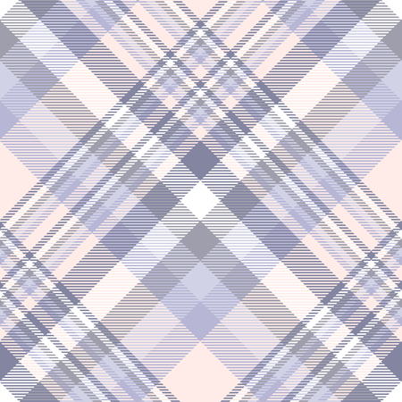 Plaid pattern in lavender, purple, peach pink and white. 矢量图像