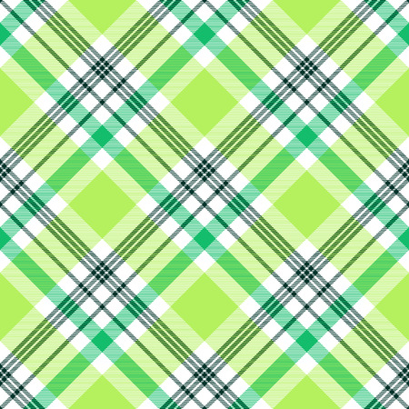 Plaid pattern in green, lime and white. Illustration