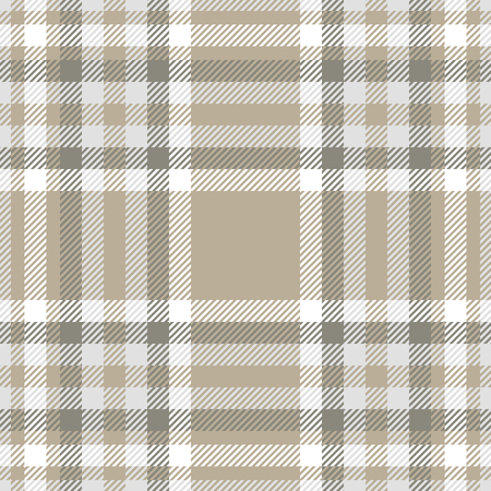 Plaid pattern in taupe, grey and white. Archivio Fotografico - 121999222