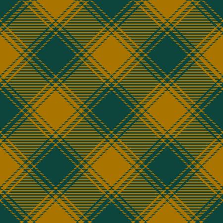 Plaid pattern in brown and greenish black. Vettoriali