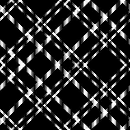 Plaid pattern in black and white. Stock fotó - 121999239