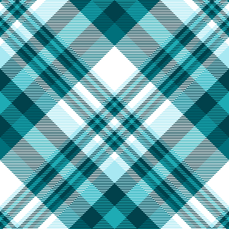Plaid pattern in shades of teal, robin egg blue and white.