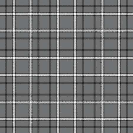 Tattersall check pattern in slate grey, black and white.  イラスト・ベクター素材
