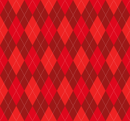 Seamless argyle plaid pattern in red and burgundy.