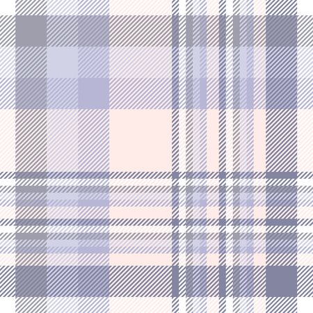 Plaid check pattern in lavender, soft purple, peach pink and white.