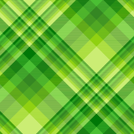 Seamless plaid check pattern in shades of emerald green.