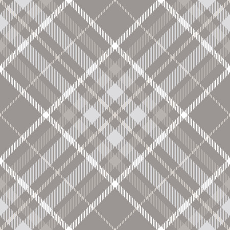 Seamless plaid check pattern in taupe, grey and white.