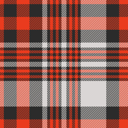Plaid check pattern in red, black and grey. Vettoriali