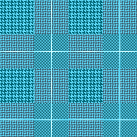 Glen plaid pattern in teal and robin egg blue with pale blue overcheck. Stock fotó - 121998828