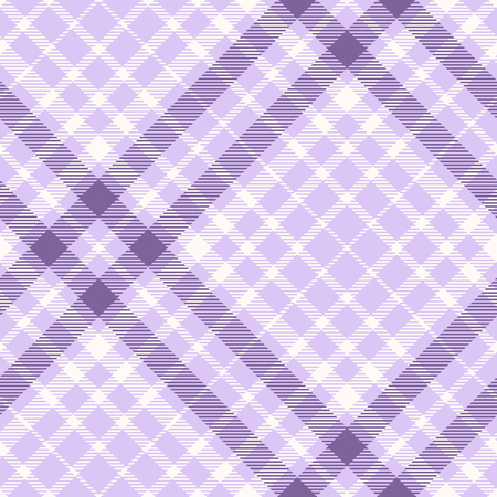 Plaid check pattern in pastel lavender, purple and white. Illustration