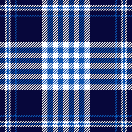 Plaid check pattern in navy, blue and white.