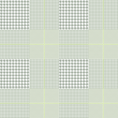 Seamless glen plaid pattern in muted green and white.