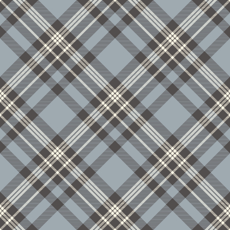 Plaid pattern in dusty blue, grey and cream.