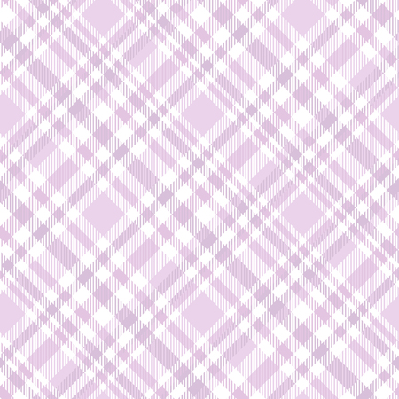 Plaid pattern in pastel pink and white. Vettoriali