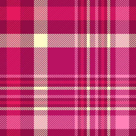 Plaid pattern in pink, cream and maroon. 矢量图像
