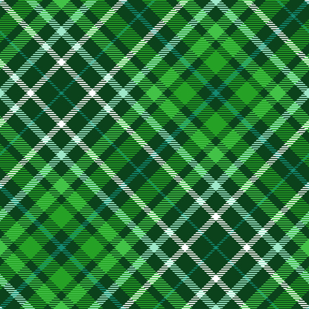 Plaid pattern in dark green, emerald, myrtle, aqua and white. Illustration