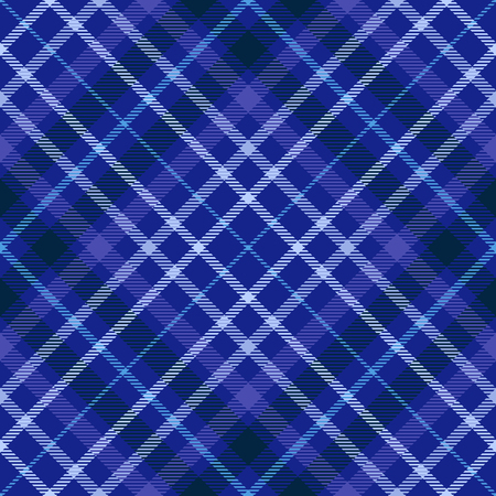 Plaid pattern in shades of blue, indigo and violet. Vettoriali