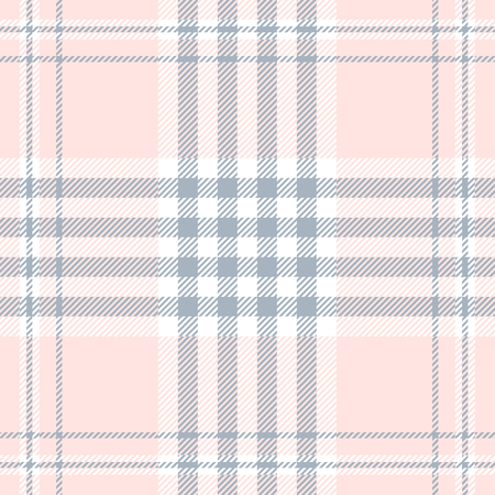 Plaid pattern in pale pink, dusty blue and white.