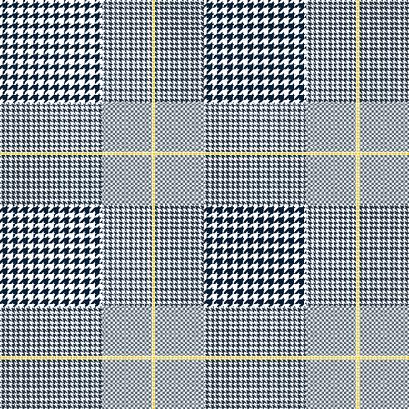 Glen plaid pattern. Seamless fabric texture.