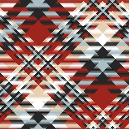 Plaid check pattern. Seamless fabric texture.  イラスト・ベクター素材