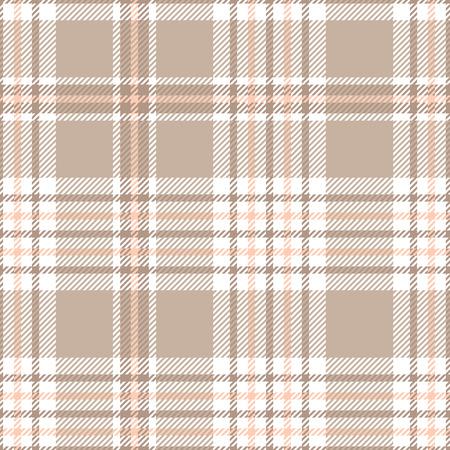 Patrón de cuadros escoceses. Textura de tela sin costuras. Ilustración de vector