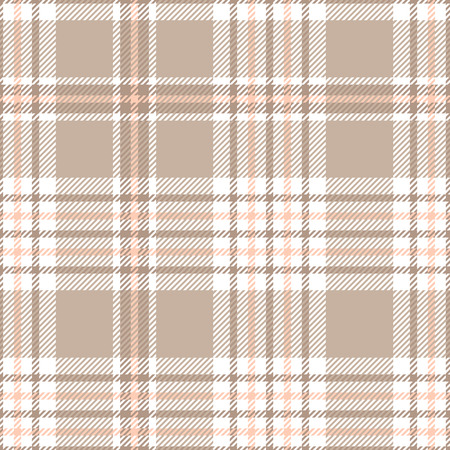 Plaid check pattern. Seamless fabric texture. 矢量图像