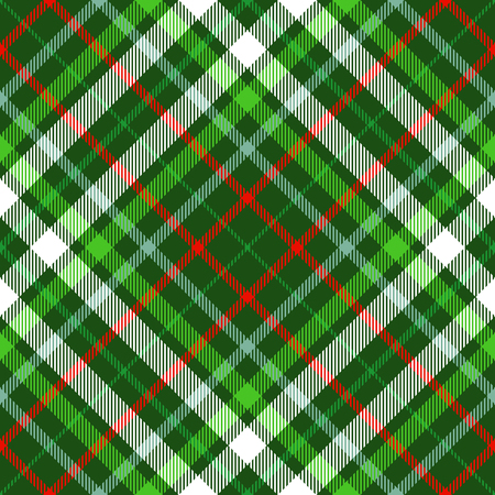 Plaid check pattern. Seamless fabric texture. Vettoriali