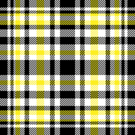 Plaid check pattern. Seamless checkered fabric texture. Stock Vector - 122853698