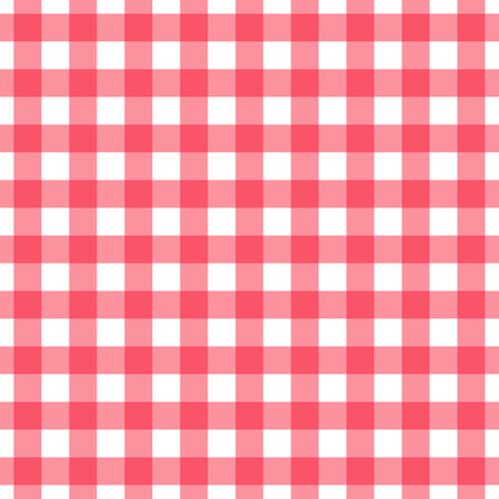 Gingham check pattern. Seamless checkered fabric texture. Vector Illustration
