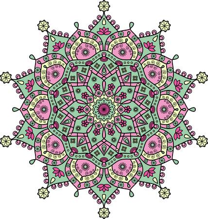 Floral mandala pattern. Stock Vector - 122853752