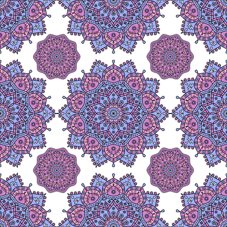Seamless mandala medallion pattern.