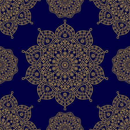 Seamless mandala medallion pattern.