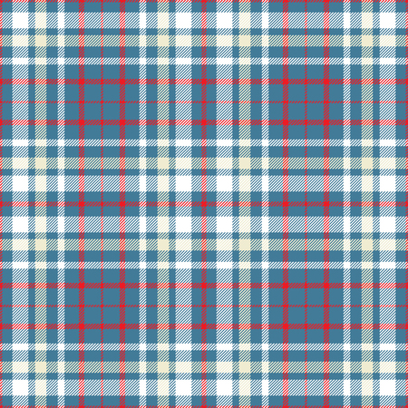 Plaid check pattern. Seamless checkered fabric texture. Stock Vector - 122854033