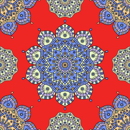 Seamless floral medallion pattern.