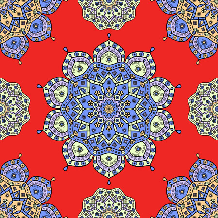 Seamless floral medallion pattern.