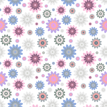 Seamless abstract floral pattern.