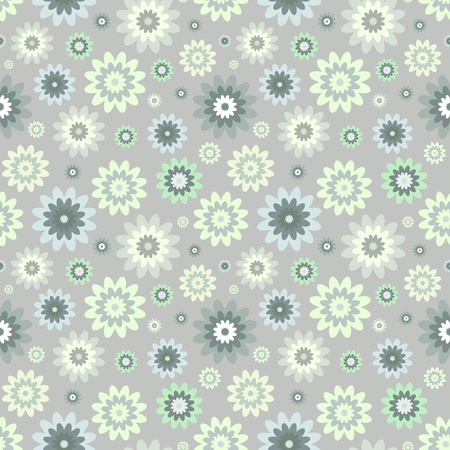 Seamless abstract floral pattern. Standard-Bild - 122854063