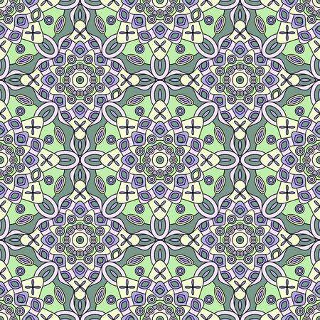Seamless geometric medallion pattern. Illustration