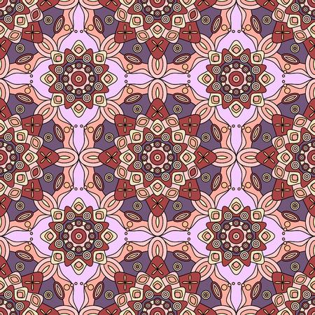 Seamless geometric medallion pattern. Illusztráció