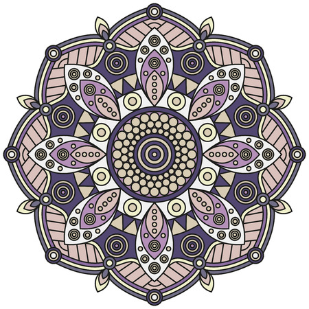 Floral mandala pattern.