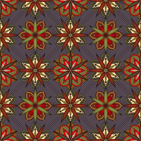 Seamless geometric floral pattern. Illusztráció