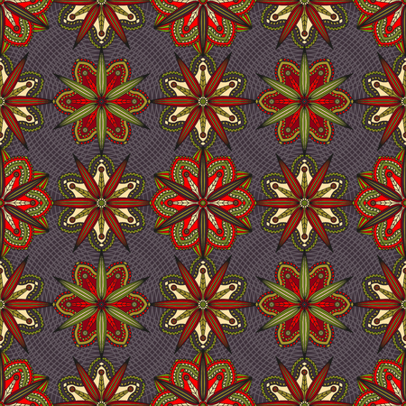 Seamless geometric floral pattern. Illustration