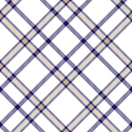Plaid check pattern. Seamless checkered fabric texture. Ilustracje wektorowe