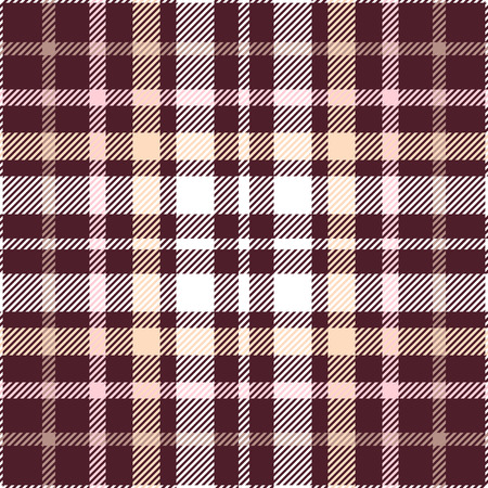 Plaid check pattern. Seamless checkered fabric texture. Stock Vector - 122854735