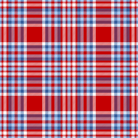 Plaid check pattern. Seamless checkered fabric texture. Stock Vector - 122854989