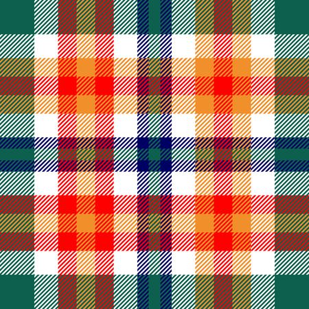 Plaid check pattern. Seamless checkered fabric texture.