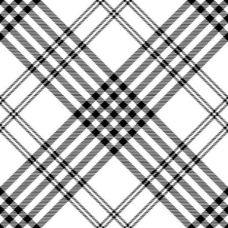 Plaid check pattern. Seamless checkered fabric texture. Archivio Fotografico - 122854849