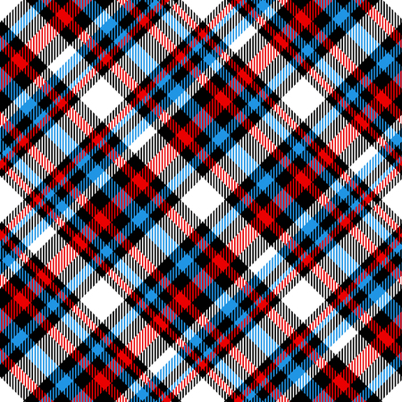 Plaid check pattern. Seamless checkered fabric texture.
