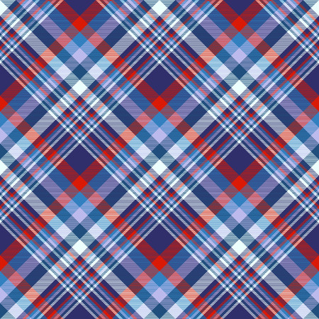 Plaid check pattern. Seamless checkered fabric texture. Banco de Imagens - 122855163
