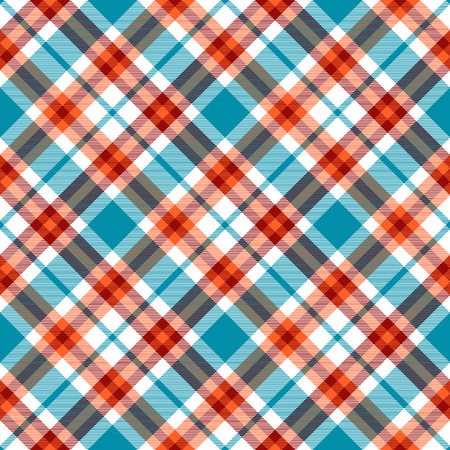 Plaid check pattern. Seamless checkered fabric texture. Stock Vector - 122854883